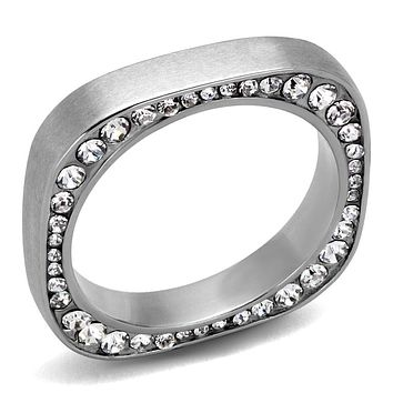 Mens Fashion Rings TK2261 Stainless Steel Ring with Top Grade Crystal