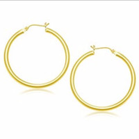 Classic Hoop Earrings in 14K Yellow Gold