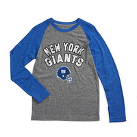 Reebok Boys 8-20 Raglan New York Giants Shirt