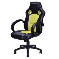 High Back Race Car Style Bucket Seat Office Desk Chair Gaming Chair Green New