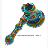 Nine Section Reverse Spiral Bubbler by Red Eye Glass