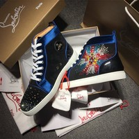 Cl Christian Louboutin Rythinestone Style #1921 Sneakers Fashion Shoes - Best Online Sale