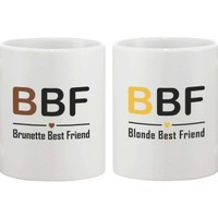 Blonde and Brunette Best Friend Coffee Mugs - 365 Printing Inc