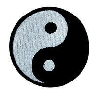 Yin Yang Chi Symbol Patch Iron On Applique Alternative Into the Badlands