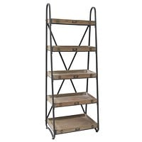 Voyager Metal And Wood Tiered Etagere By Crestview Collection Cvfzr867