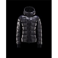 Moncler Aubert Hooded Neckline Blue Jackets Nylon/Polyamid Mens 41224644FN