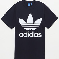 adidas Navy Boxy T-Shirt at PacSun.com