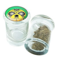 Stash Jar - Glass Pop Top - Adventure Time Jake #2  - Stay Fresh Herbs 1/6 oz.