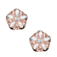 Kate Spade Fame And Flowers Statement Studs Black Multi ONE