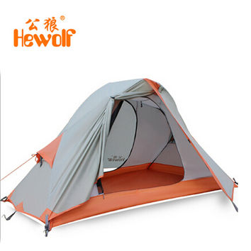 Chinese Hewolf tourist winter waterproof tent a double layer for hunting camping equipment & outdoor 1 person tent