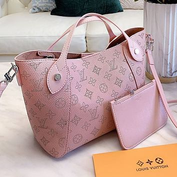 Lv Louis Vuitton High Quality Women Shopping Bag Leather Handbag Tote Shoulder Bag Crossbody Satchel Wallet Set Two Piece