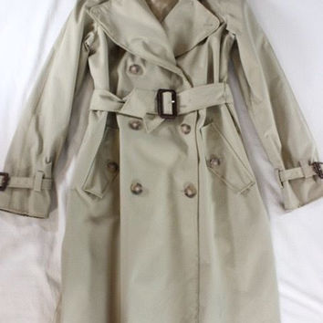 """~~~ A FOREVER CLASSIC ~~~ DOLCE & GABBANA CAMEL """"BELTED"""" TRENCH COAT ~~~ 42"""
