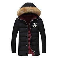 Man Warm Cotton Padded Winter Jacket Casual Mens Parka Coat Thick Outwear M-4XL long Jacket Brand Male Clothing hooded Coats