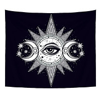 130X150cm Polyester Tapestry Mandala Bohemia Wall Hanging Animal Moon Wolf Guns Yoga Mats Beach Towel Decor Livingroom