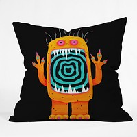 Mandy Hazell Hypno Monster Throw Pillow