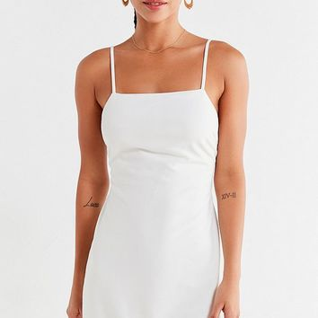 UO Bodycon Tie-Back Mini Dress   Urban Outfitters