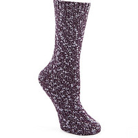 HUE Two-Tone Luxe Blend Boot Socks
