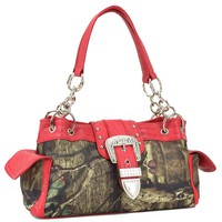 Mossy Oak ® camouflage buckle accent shoulder bag