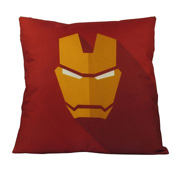 Iron | Superhero |  Vector Art | Fun Gifts | Pillow Cover | Home Decor | Throw Pillows | Happy Birthday | Kids Room Decor | Kids Room