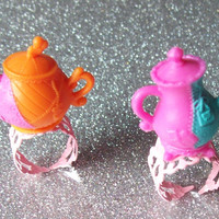 Mad Tea Party - Teapot Rings - Your Choice