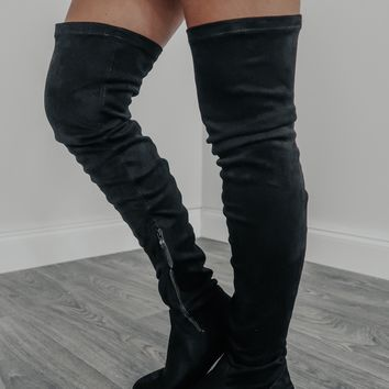 Hold On Tight Boots: Black