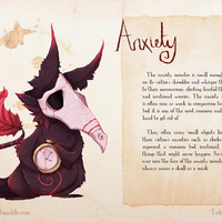 Real Monsters- Anxiety Art Print by Zestydoesthings