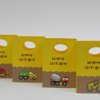 12 Construction Party Favor Bags–Construction Birthday Party
