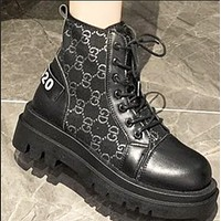 New style hot fashion all-match thick-soled thin locomotive ankle boots shoes