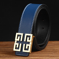 Givenchy men's fashion all-match smooth buckle belt