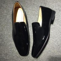 PEAP5 Cl Christian Louboutin Loafer Style #2393 Sneakers Fashion Shoes