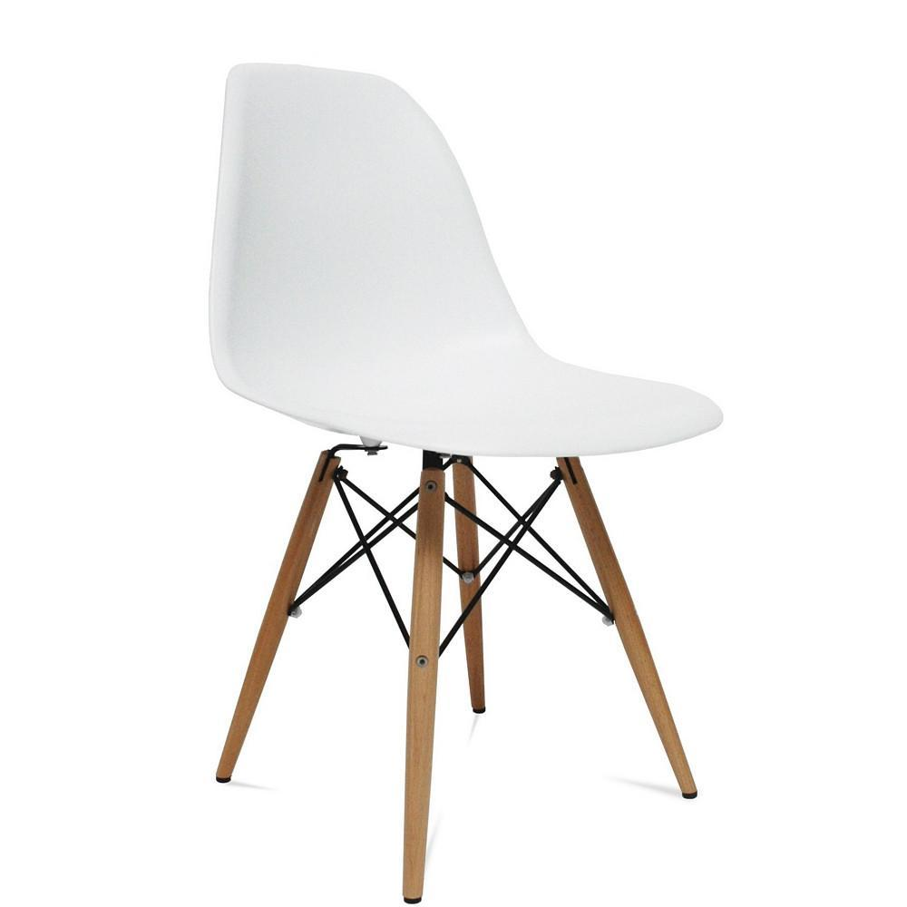 Image of WoodLeg Dining Side Chair, White