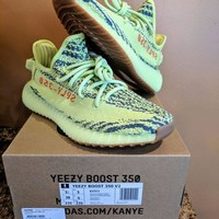 Come With Box adidas Yeezy Boost 350 V2 Semi Frozen Yellow B37572 Size 5.5