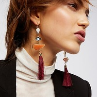 Alameda Stone Tassel Earrings