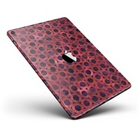 """Deep Red Watercolor Ring Pattern Full Body Skin for the iPad Pro (12.9"""" or 9.7"""" available)"""