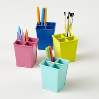 Kids Storage: Colorful Iron Pencil Cups in Desk Accessories | The Land of Nod
