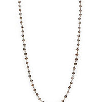 Chan Luu - Labradorite & Sterling Silver Beaded Chain Necklace - Saks Fifth Avenue Mobile