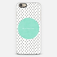 Mint Hello Beautiful iPhone 6 case by Allyson Johnson | Casetify