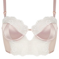 Satin and Lace Bralet - Topshop