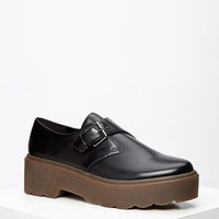 Lug-Sole Monk Strap Loafers