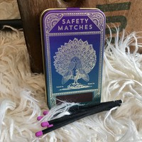 Peacock Match Tin