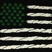 Men's United States of America Weed Flag Shirt