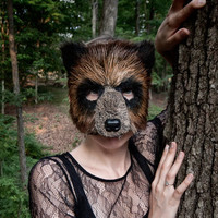 Woodland Brown Bear Mask Grizzly Bear Mask