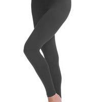 Solid Jersey Leggings - Charcoal