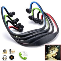 New Sports Wireless Bluetooth Stereo Headset Headphone Earphone for Cell Phone Iphone Laptop Pc D_L = 1713254788