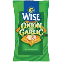 Wise Onion & Garlic Potato Chips  1 oz Bags - Pack of 36