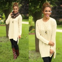 Cable Knit Cutie Sweater Dress