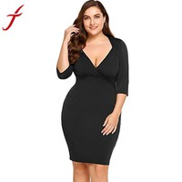 Plus Size Sheath Dress Women