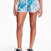 Loose-Fit Printed Running Shorts for Women