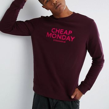 Cheap Monday Worth Sweater Doodle Logo at asos.com