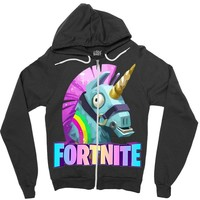 Fortnite Unicorn Zipper Hoodie